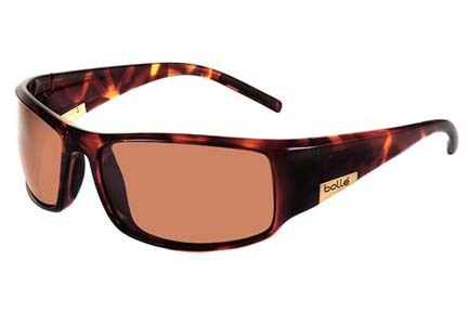 King Sport Collection Sunglasses (Dark Tortoise Frame and Polarized A-14 Oleo AF Lenses) from Bolle