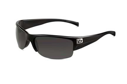 Zander Sport Collection Sunglasses (Shiny Black Frame and Polarized TNS Lenses) from Bolle