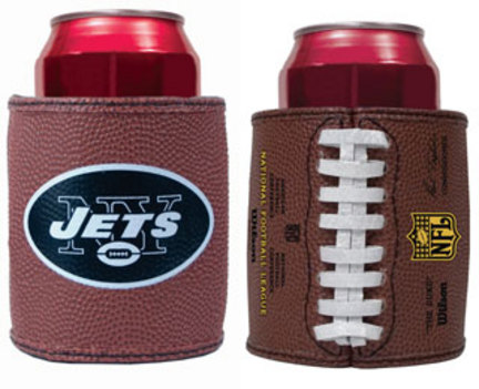 New York Jets Football Can Coozies / Coolers - Set of 2