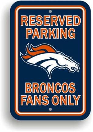 "Denver Broncos 12"" x 18"" Plastic Parking Signs - Set of 2"