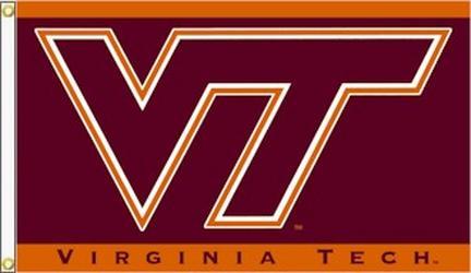 Virginia Tech Hokies 3 Ft. X 5 Ft. Flag W/Grommets BSI-95011