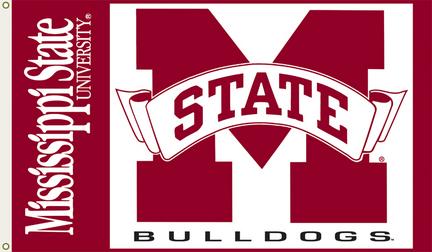Mississippi State Bulldogs Premium 3' x 5' Flag