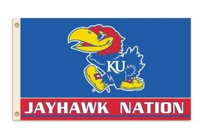 Kansas Jayhawks 3 Ft. X 5 Ft. Flag W/Grommets BSI-95214