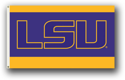 Louisiana State Tigers 3 Ft. X 5 Ft. Flag W/Grommets BSI-95215