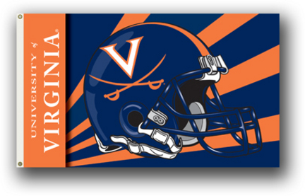Virginia Cavaliers Helmet Premium 3' x 5' Flag
