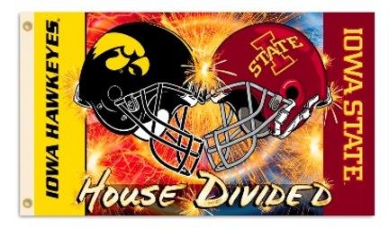 Iowa Hawkeyes and Iowa State Cyclones House Divided Premium 3' x 5' Flag