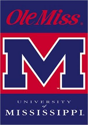 """Mississippi (Ole Miss) Rebels Premium 28"""" x 40"""" Two-Sided Banner"""