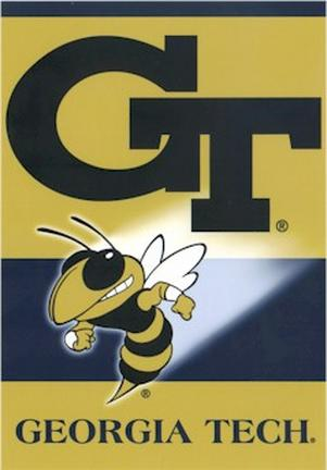 "Georgia Tech Yellow Jackets Premium 28"" x 40"" Two-Sided Banner"