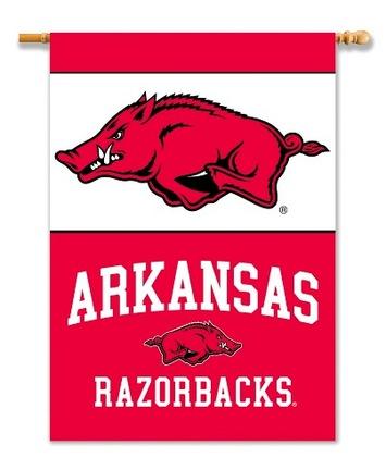 "Arkansas Razorbacks Premium 28"" x 40"" Two Sided Banner"