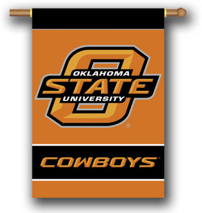 "Oklahoma State Cowboys 2-Sided 28"" X 40"" Banner W/ Pole Sleeve BSI-96147"
