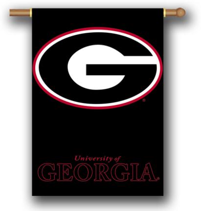 "Georgia Bulldogs Black Premium 28"" x 40"" Two Sided Banner"