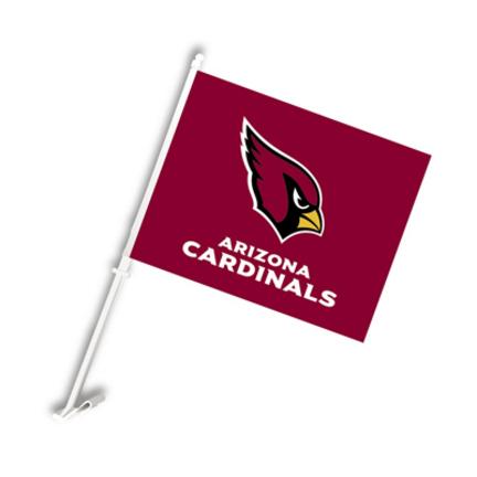Arizona Cardinals Car Flags - 1 Pair