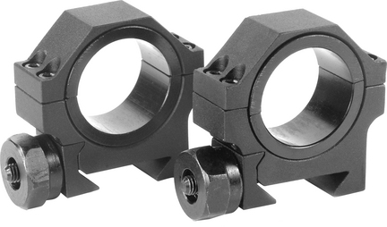 """30mm Low HD Weaver Style Mounting Rings with 1"""" Insert (Set of 2)"""
