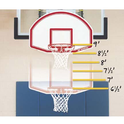 Bison Easy-Up™ 6-N-1 Adjustable Youth Mini Basketball Goal
