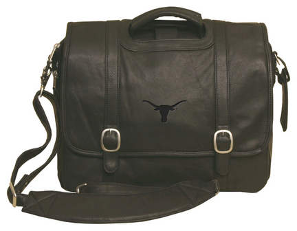 NCAA Texas Longhorns Willow Rock Leather Computer Briefcase