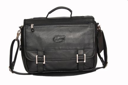 NCAA Florida Gators Copper Canyon Expandable Leather Briefcase