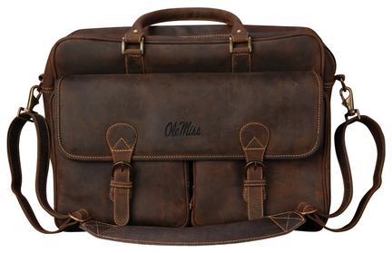 NCAA Mississippi (Ole Miss) Rebels Sedona Canyon Leather Computer Briefcase