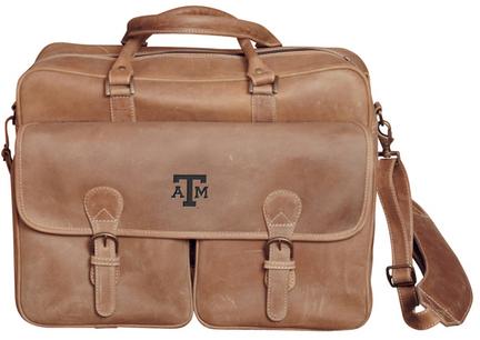 NCAA Texas A & M Aggies Sedona Canyon Leather Computer Briefcase