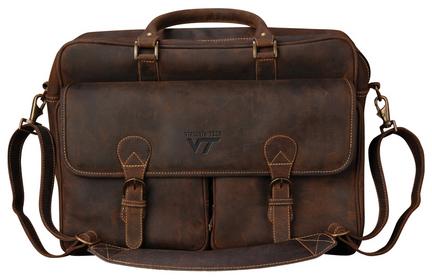 NCAA Virginia Tech Hokies Sedona Canyon Leather Computer Briefcase