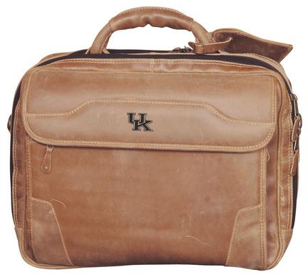 NCAA Kentucky Wildcats Dakota Pines Leather Computer Briefcase