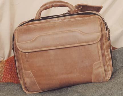 Dakota Pines Leather Computer Briefcase
