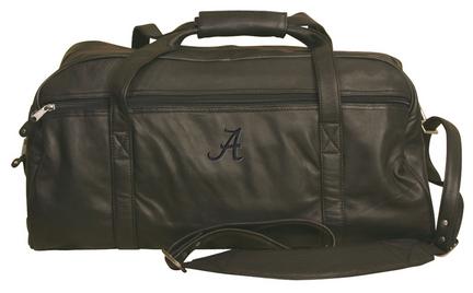 NCAA Alabama Crimson Tide Marble Canyon Leather Sport Duffel / Bag
