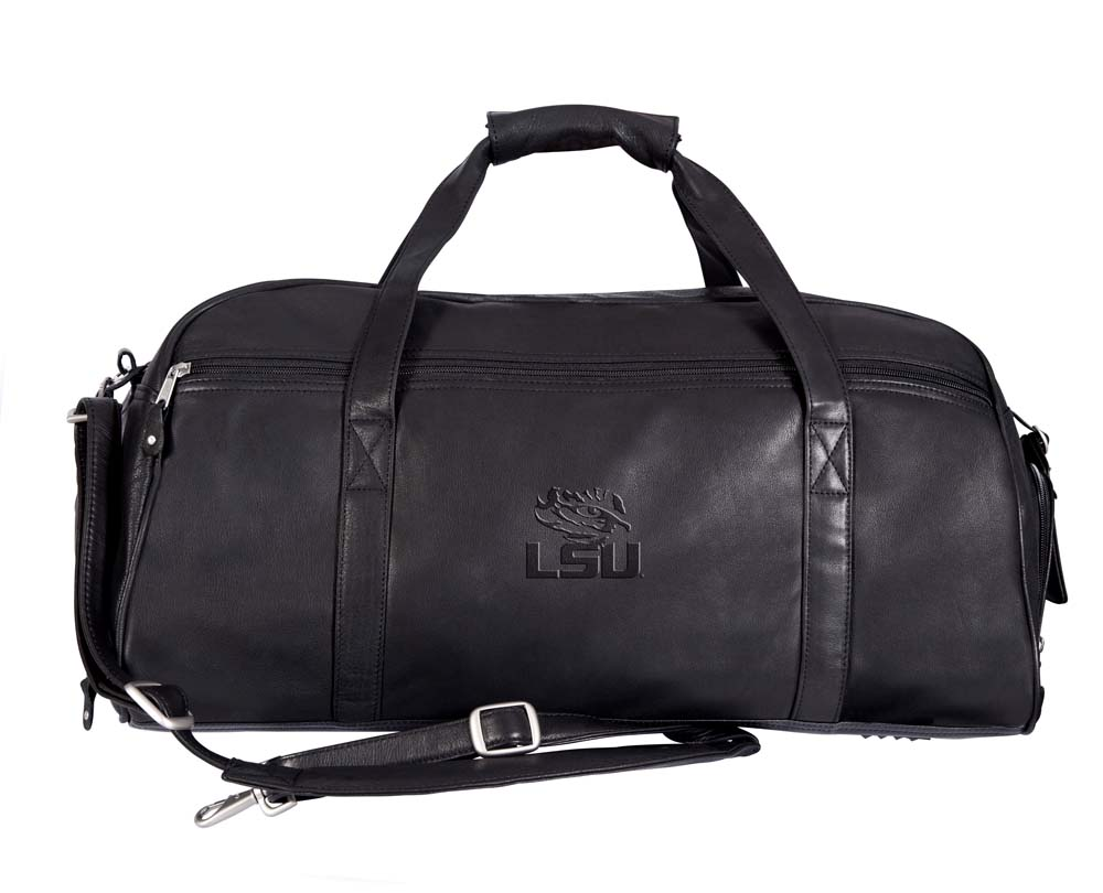 NCAA LSU Tigers Marble Canyon Leather Sport Duffel / Bag