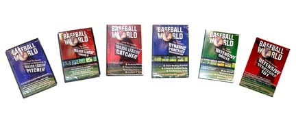 Pro scout and instructor Tom Emanski has lead teams to three consecutive AAU National Championships in the nineties!  This series contains the following 6 tapes: Teaching the Mechanics of the Major League Pitcher (46 minutes) Teaching the Mechanics of the Major League Catcher (32 minutes) Defensive Strategies 101 (47 minutes) Baseball World's Defensive Drill Video (50 minutes) Baseball World's Dynamic Practice Organization (43 minutes)Teaching the Mechanics of the Major League Swing II (55 minutes)