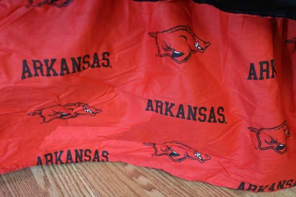 Arkansas Razorbacks Printed Dust Ruffle (King)