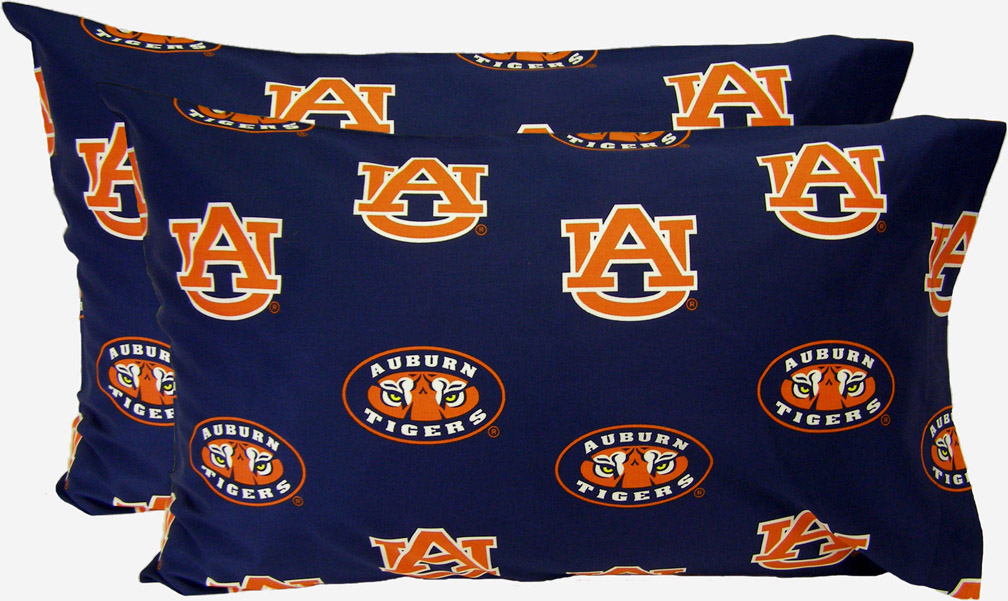 Auburn Tigers King Size Printed Pillow Case (Set of 2)