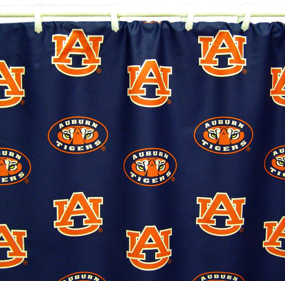"Auburn Tigers 70"" x 72"" Printed Shower Curtain"