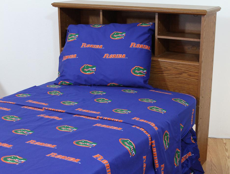 Florida Gators Queen Size Printed Sheet Set