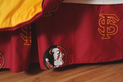 Florida State Seminoles Printed Dust Ruffle (Twin)