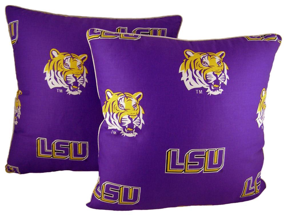 "Louisiana State (LSU) Tigers 16"" x 16"" Decorative Toss Pillow (Set of 2)"