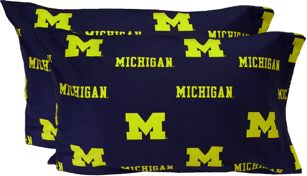 University Of Michigan King Size Bedding