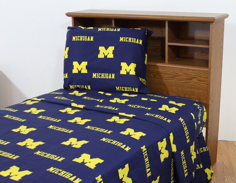 Michigan Wolverines Printed Sheet Set (King)