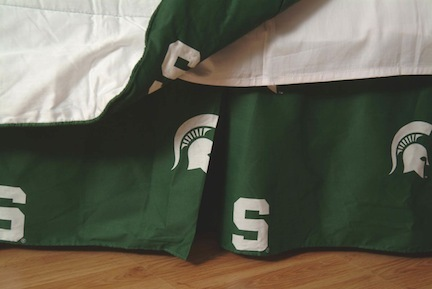 Michigan State Spartans Printed Dust Ruffle (King)