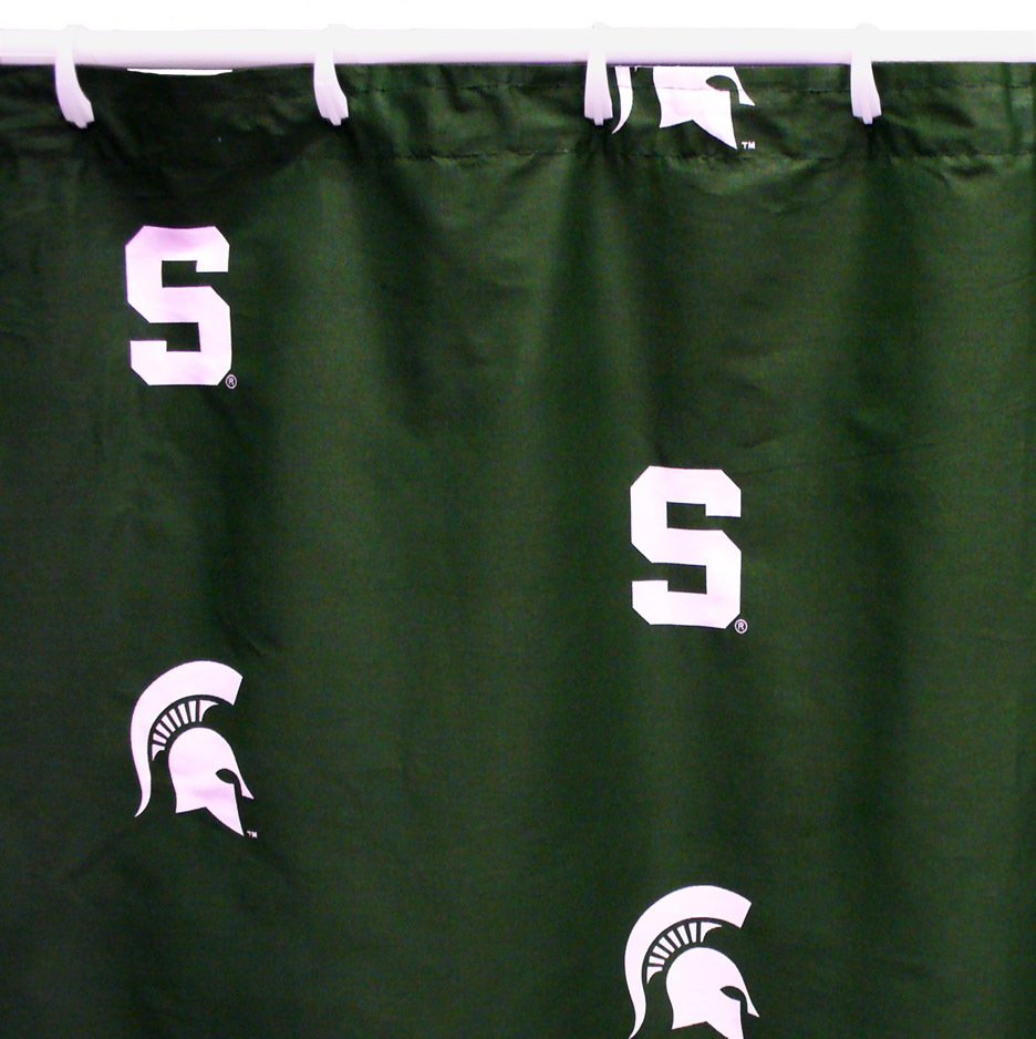 Spartans Shower Curtain Michigan State Spartans Shower Curtain Spartans Shower Curtains