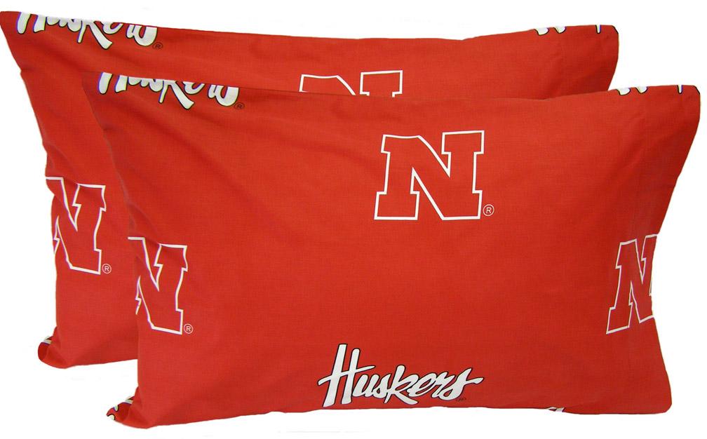 Nebraska Cornhuskers King Size Printed Pillow Case (Set of 2)