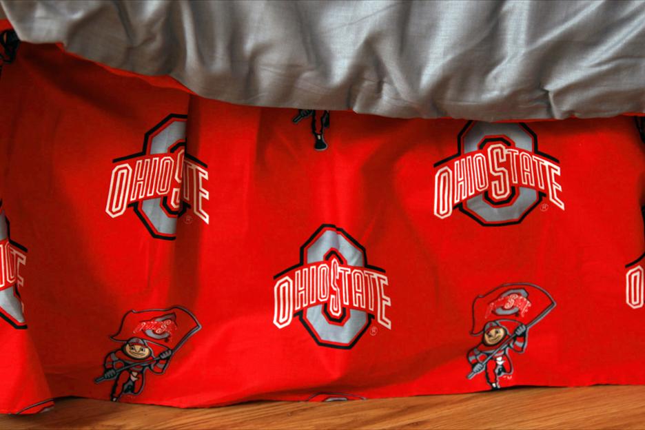 Ohio State Buckeyes Printed Dust Ruffle (Twin)