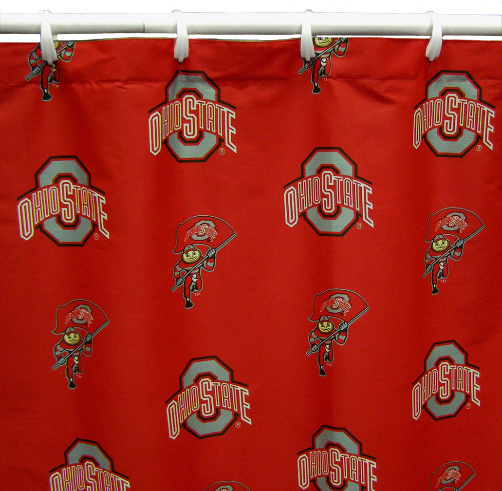 Sports shower curtains - Ohio State Buckeyes Shower Curtains Online Sports