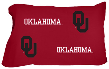 Oklahoma Sooners King Size Printed Pillow Case (Set of 2)