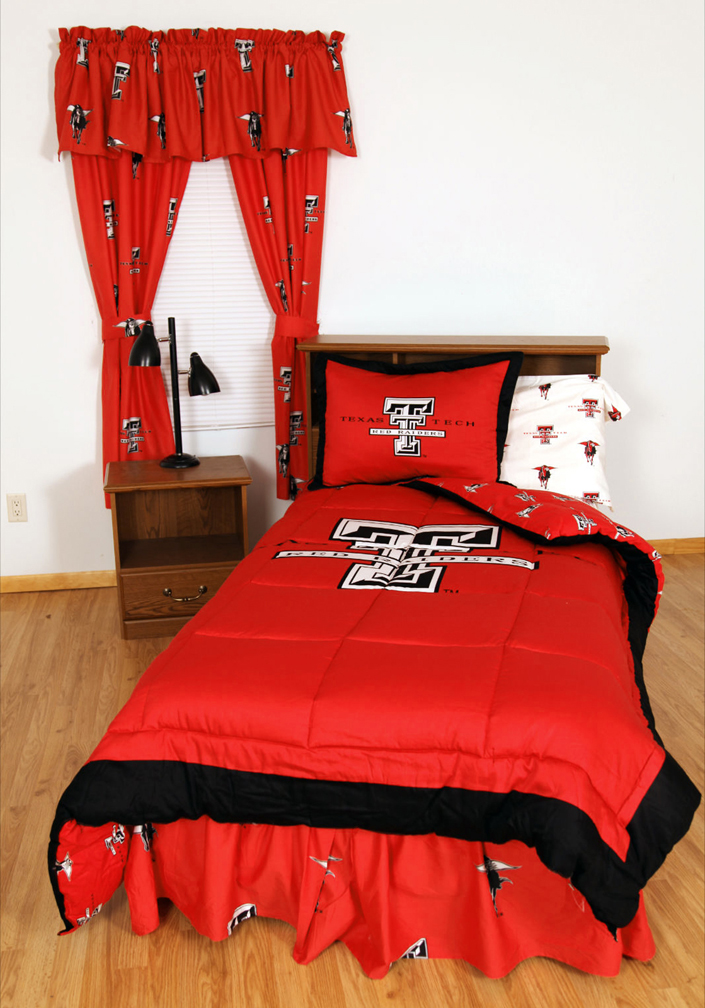 Texas Tech Red Raiders Bed-in-a-Bag with Reversible Comforter (Full)