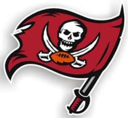 "Tampa Bay Buccaneers 12"" Right Logo Car Magnets - Set of 2"