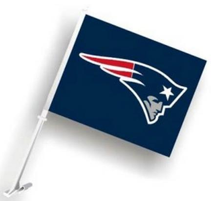 New England Patriots Car Flags - 1 Pair