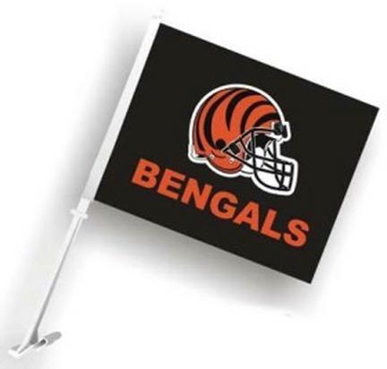 Cincinnati Bengals Car Flags - 1 Pair
