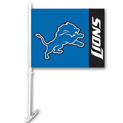 Detroit Lions Car Flags - 1 Pair