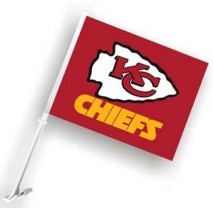 Kansas City Chiefs Car Flags - 1 Pair