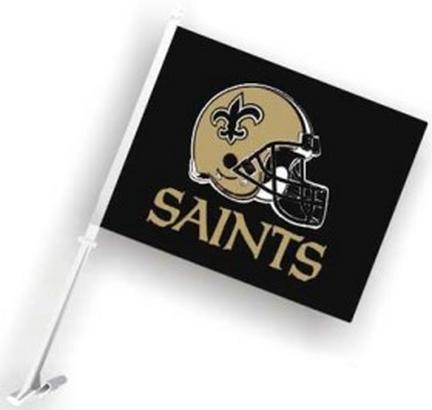 New Orleans Saints Car Flags - 1 Pair