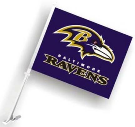 Baltimore Ravens Car Flags - 1 Pair